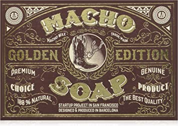 Macho Beard Company The Macho Soap Jabón para Barba - 150 gr ...