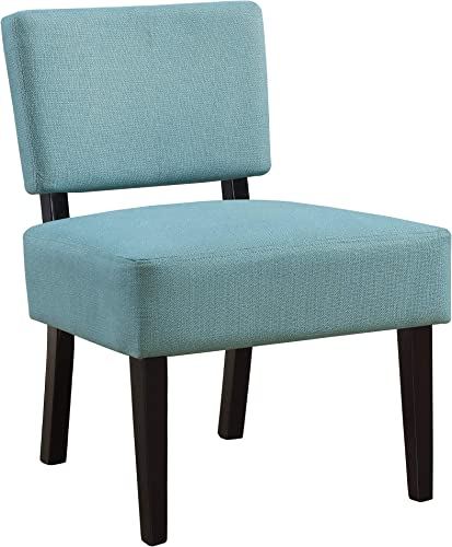 Monarch Specialties ACCENT CHAIR, 22.75 L x 27.5 W x 31.5 H, Teal