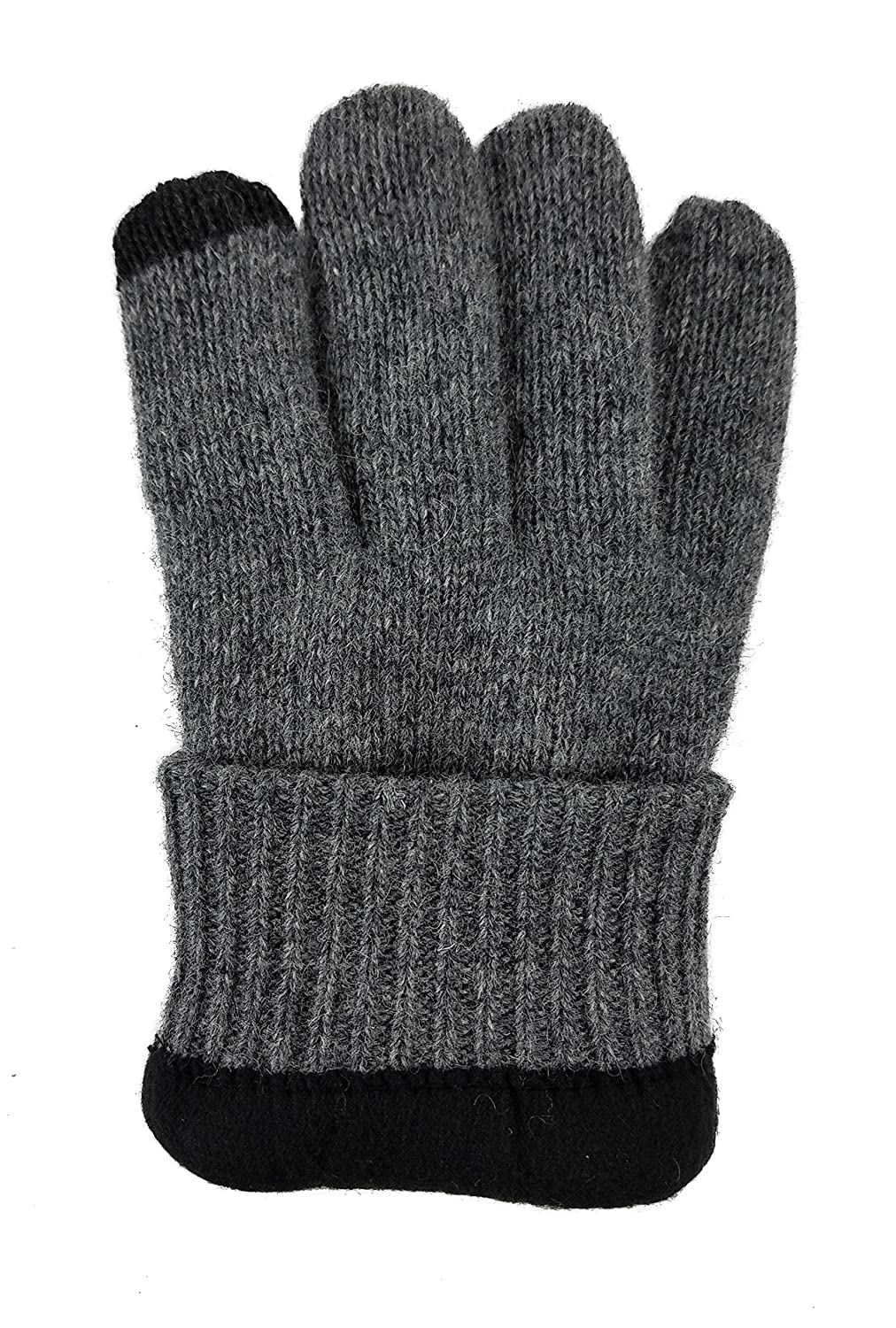 Bruceriver Mens Pure Wool Knitted Gloves with Thinsulate Lining