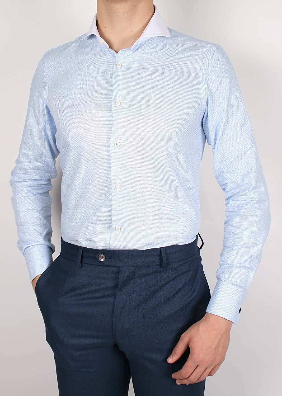 Alvaro Moreno, Camisa Micro C.Blanco-39, color Celeste ...