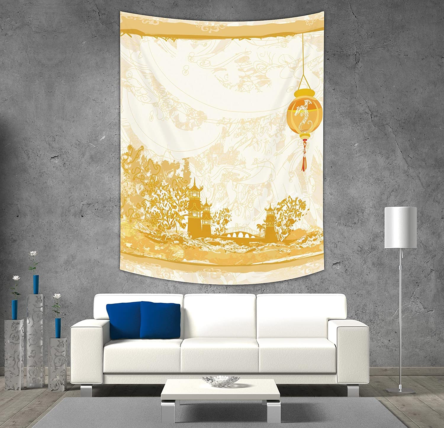 Amazon.com: iPrint Polyester Tapestry Wall Hanging,Beach,Tropical ...