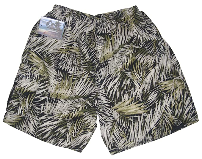 969304e200 Men's Swim Trunks - Kaylua Bay Windy Jungle Elastic Waist Brief Style Mesh  Liner Micro Polyester