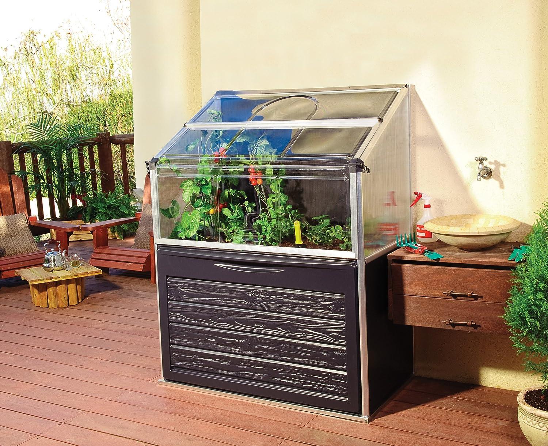 serre de jardin potager adossable gaya 074 m amazonfr jardin - Mini Serre De Jardin