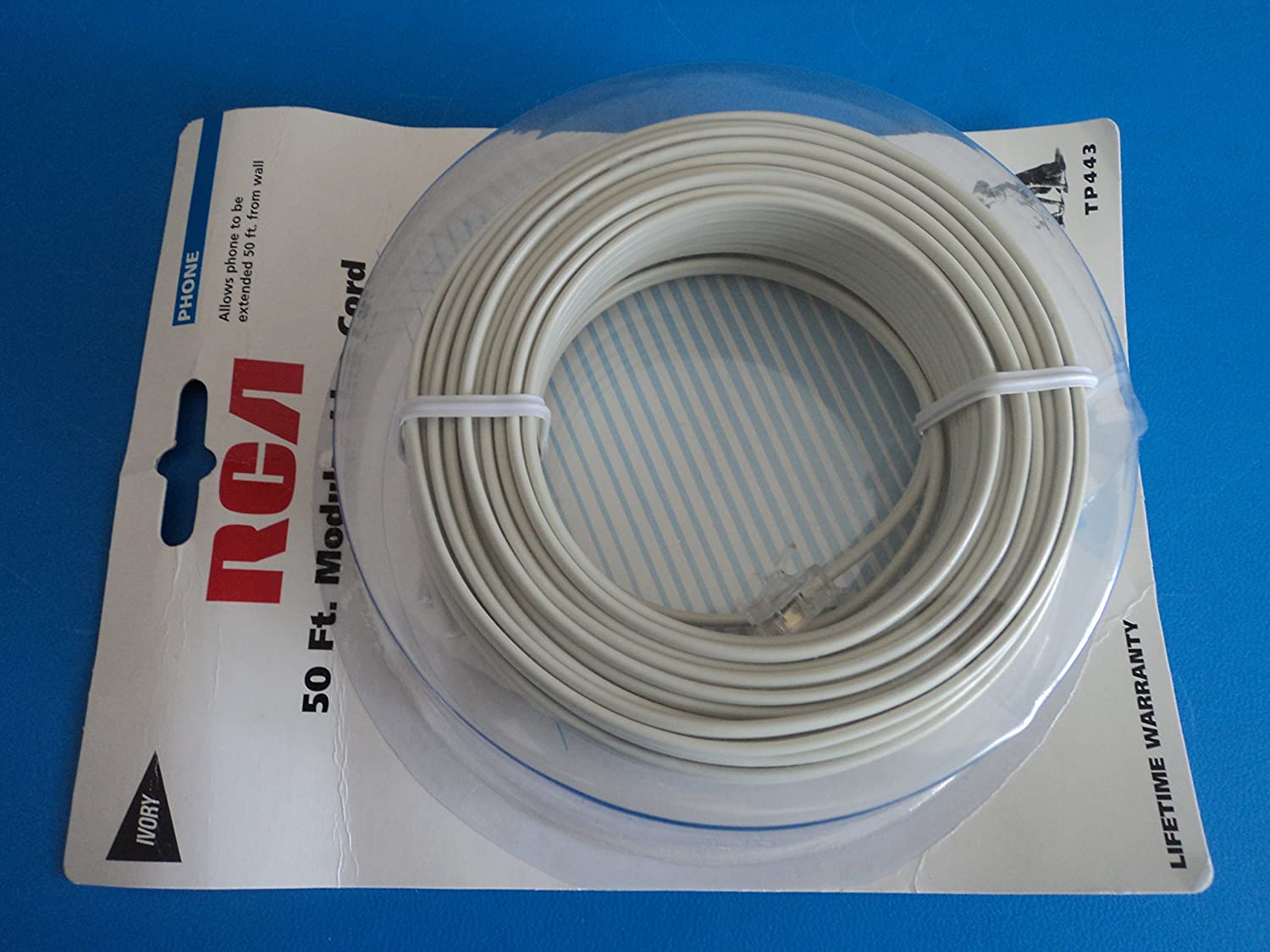 Audiovox 50/' Line Phone Cord,No TP443N