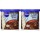 Pillsbury Creamy Supreme Sugar Free Chocolate Fudge Frosting 15 oz (Pack of 2)