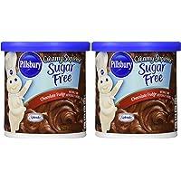 Pillsbury Creamy Supreme Sugar Free Chocolate Fudge Frosting (Pack of 2) by Pillsbury