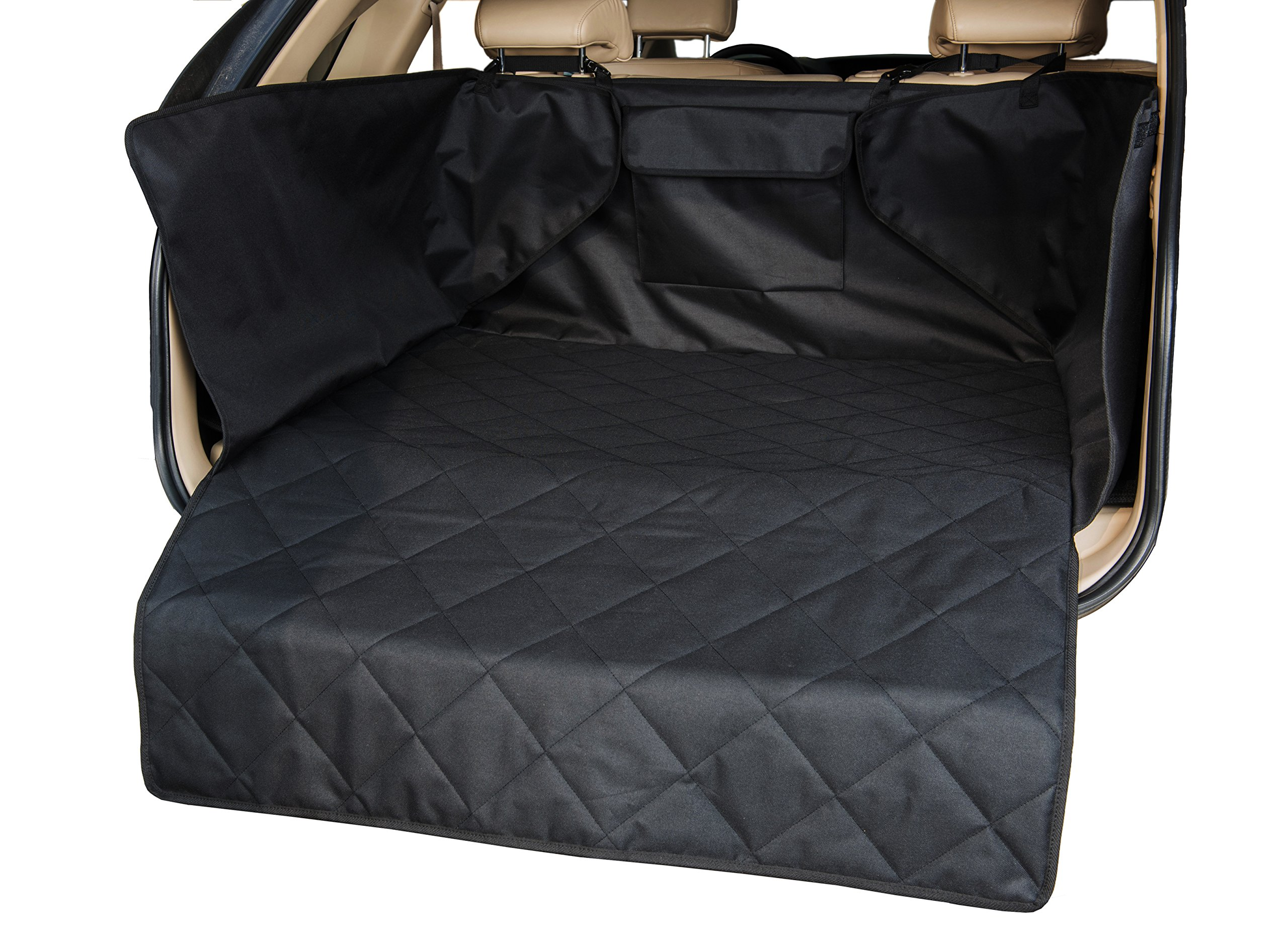 INNX Quilted SUV Dog Cargo Liner, Dog Cargo Cover for SUV, Waterproof to protect your SUV, Minivans, Jeeps (Black, 52''Lx41''Wx17.7''H)