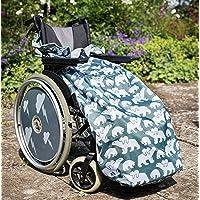 Funda para silla de ruedas con forro polar
