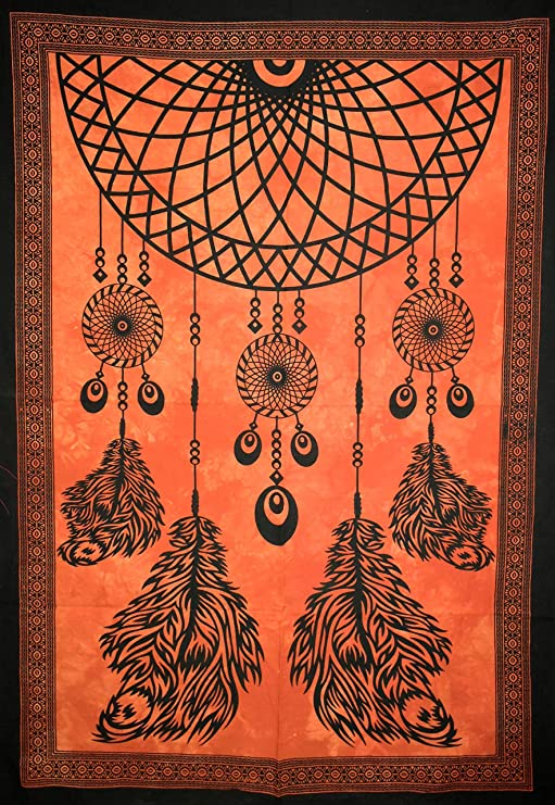 Dream Catcher Tie Dye Tapestry Indian Cotton Wall Tapestry Poster Wall Hanging