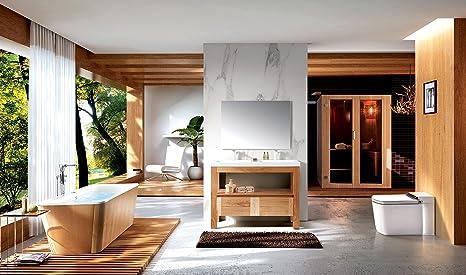 Rivestimento In Legno Per Vasca Da Bagno : Vasca da bagno 180 x 80 cm con rivestimento in legno decorazione