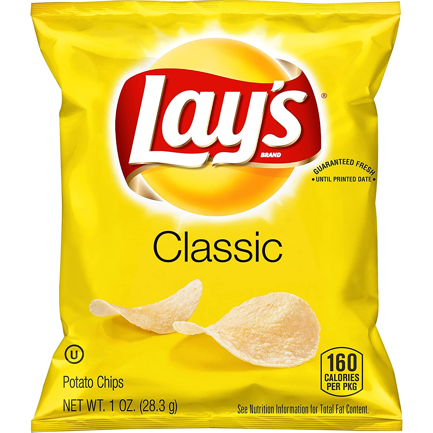 amazon com lay s classic potato chips 1 ounce pack of 40