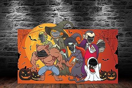Photocall Halloween 2,30x1,45m | 1cm de Grosor | Contiene 2 Peanas Para