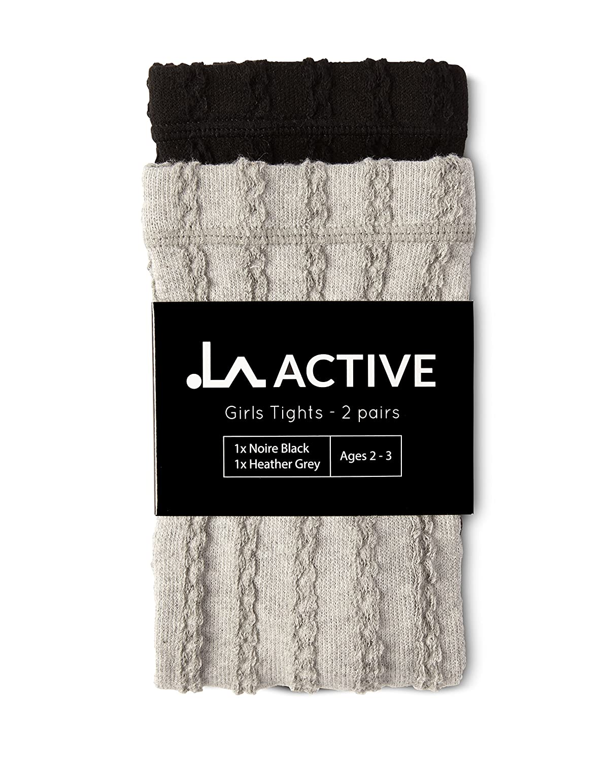 LA Active Baby Girls Tights 2 Pairs Baby Toddler Infant Newborn Kids Non Skid//Slip Grip Cotton Cable Knit 2T 3T 4T 5T