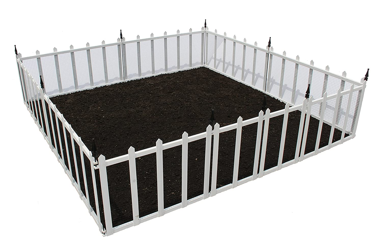 Amazon.com : Bauxko GF 4W Terra Garden Fence Protect U0026 Beautify Wire Mesh  Animal Barrier, 32u0027, White : Garden U0026 Outdoor