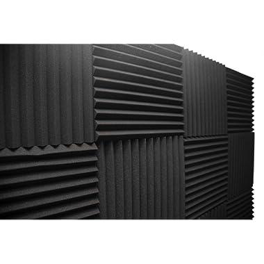 Acoustic Foam Panels; Studio Wedge Tiles; 12 Pack; 1  X 12  X 12