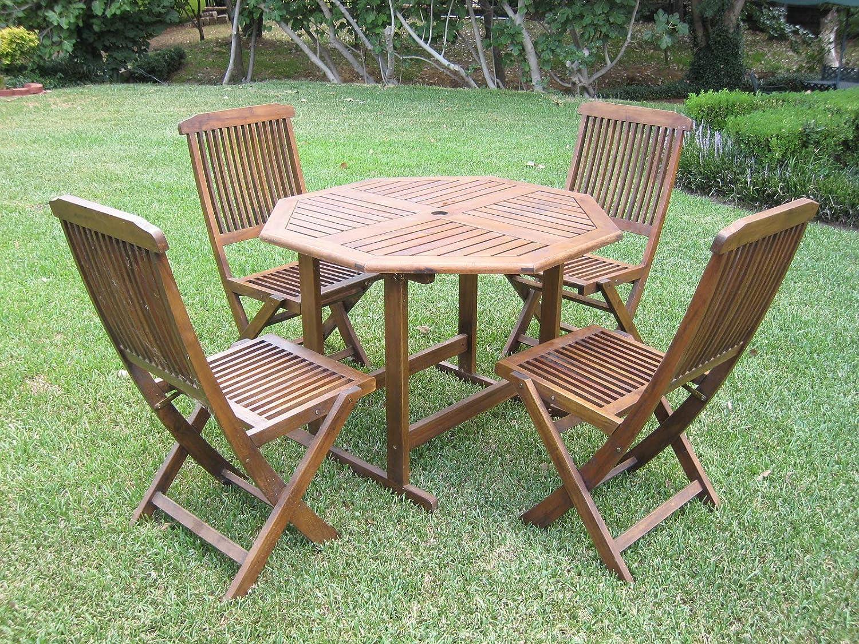 Amazon Com International Caravan Furniture Piece Acacia Stow Away Dining Set Furniture Decor
