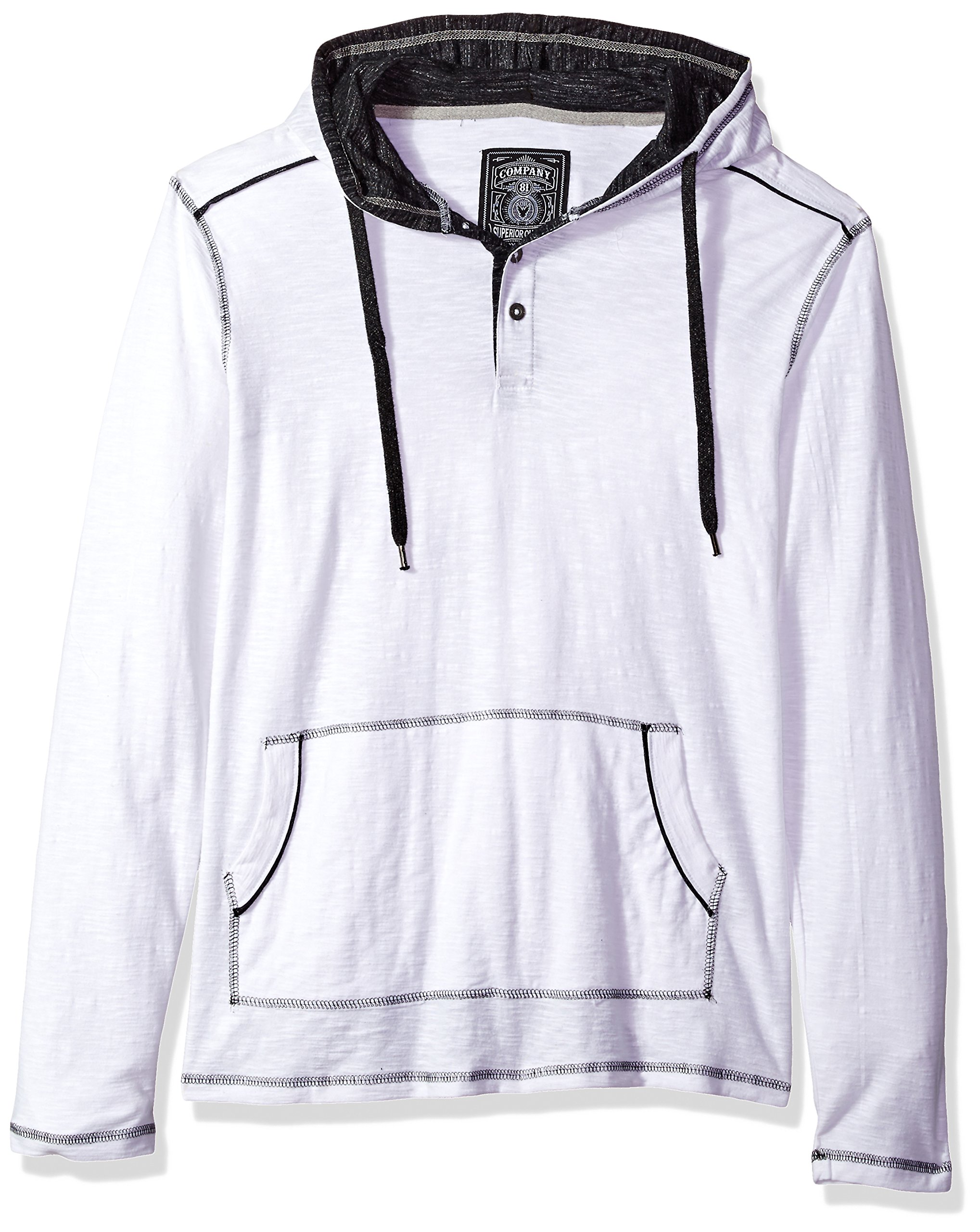 Company 81 Men's Stat Hoodie, White, Large