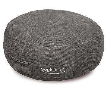 Yogishop BASICS - Cojín redondo para meditación antracita ...