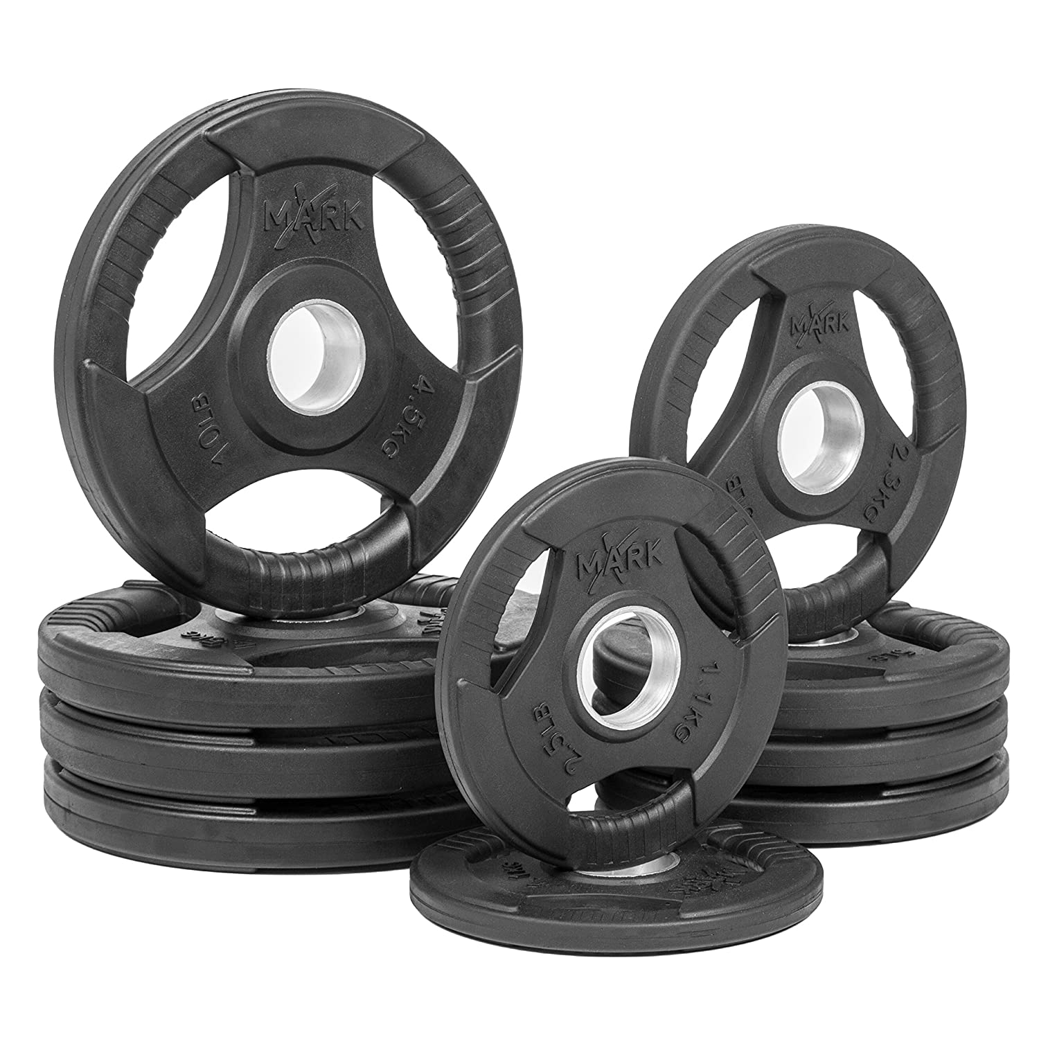 Amazon.com  XMark Fitness XM-3377-BAL-45 Rubber Coated Olympic Plates  Sports u0026 Outdoors  sc 1 st  Amazon.com : rubber plate weight set - Pezcame.Com