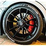 4 x tyre style tyre sticker michelin finest folia colour white tyre