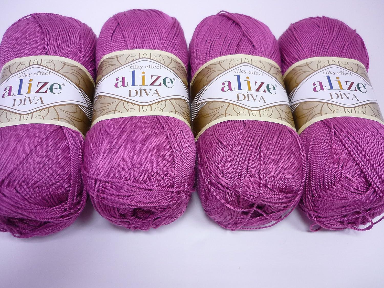 amazon com 100 microfiber acrylic yarn alize diva silk effect
