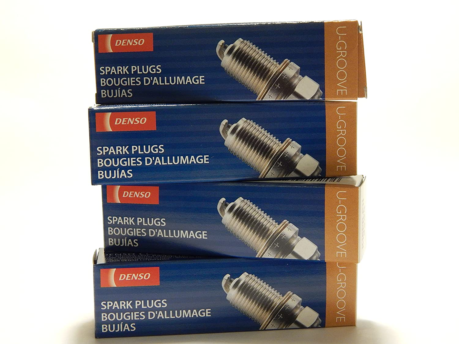 Amazon.com: 4 PCS *NEW* -- DENSO #6076 -- U-GROOVE - Standard Spark Plugs -- K16HPR-U11: Automotive