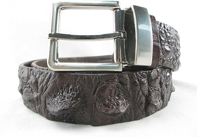 Kids Genuine Cowhide crocodile print leather Kids Belt with removeable Buckle