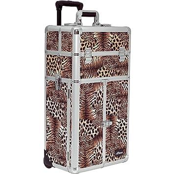 cbb7afb6fae9 Amazon.com   Sunrise Panzani 2-In-1 Rolling Makeup Case Professional Nail  Travel Organizer Box