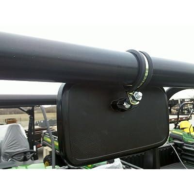 Rear View Mirror Fits Polaris and John Deere UTVs w/ ROUND ROLL BARS: Automotive