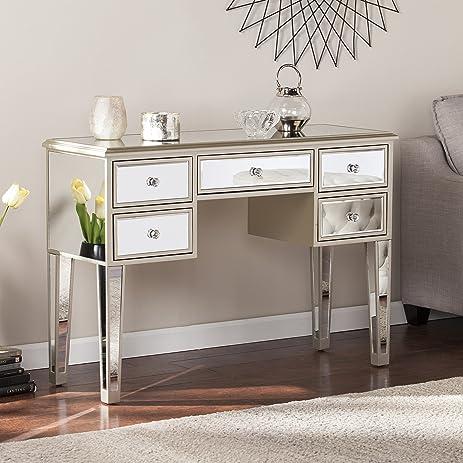 Mirage Glam Mirrored Console/Desk   Champagne   43u0026quot; W X 15.5u0026quot; ...