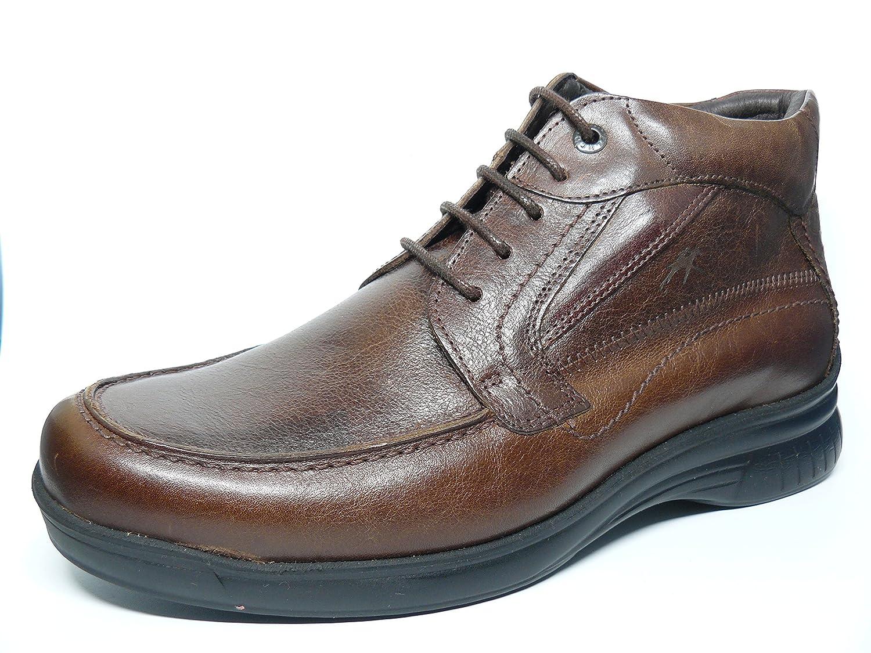 Bota baja con cordones FLUCHOS - Piel color Café - 8158 - 2 (45, cafe): Amazon.es: Zapatos y complementos