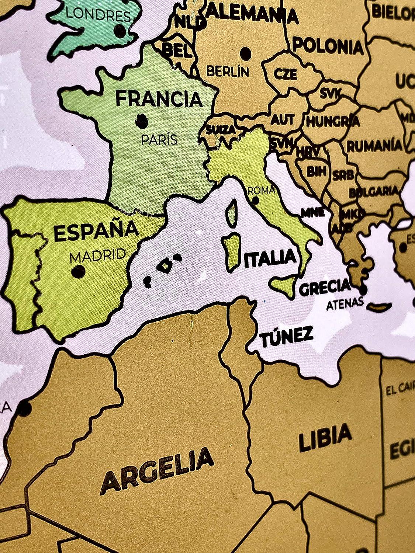 Flamingueo Mapa Mundi Rascar - Mapa del Mundo Grande para Rascar ...