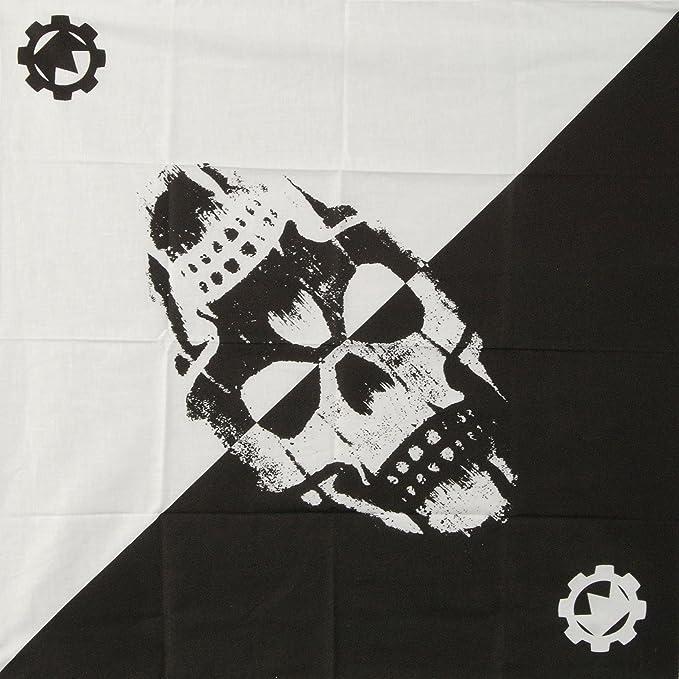 Crown the Empire Double Skull Bandana Black/White