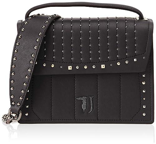 Trussardi Jeans Women s 75B00510-9Y099999 Top-Handle Bag Black Black ... ff2e7b92b2b27