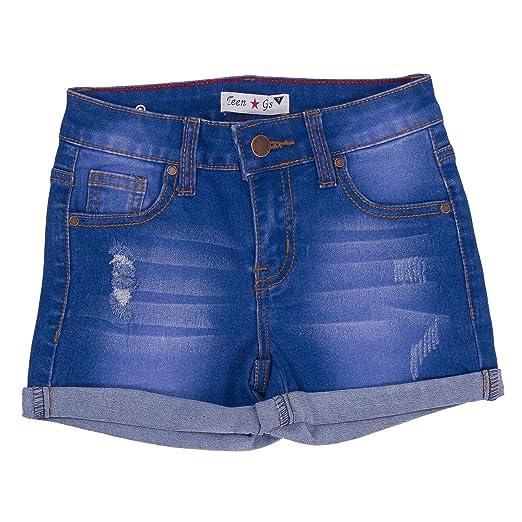 c55688580b5 Amazon.com  Teens G s Big Girl Denim and Twill Shorts 201 (7