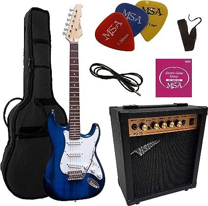 Guitarra eléctrica azul – Guitarra eléctrica azul – Juego con ...