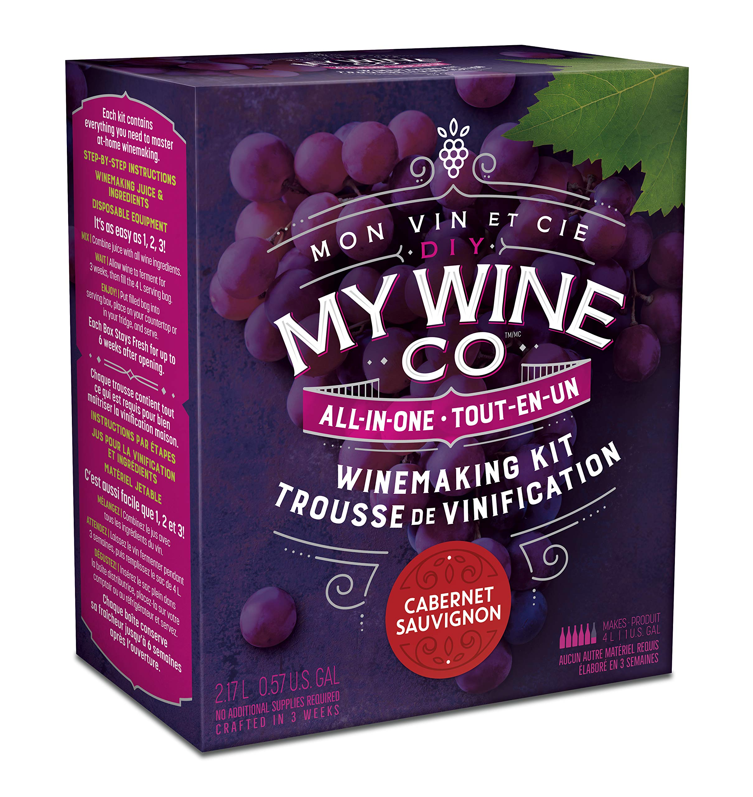 DIY MY WINE CO. All-In-One Cabernet Sauvignon Winemaking Kit by DIY My Wine Co.