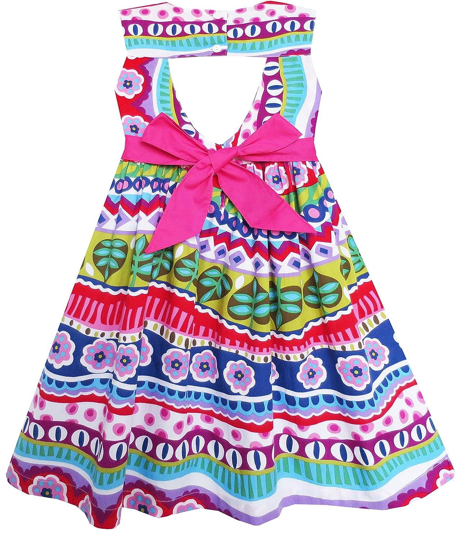 Sunny Fashion Vestido para Vestido Fashion niña Bow Corbata Flor ...
