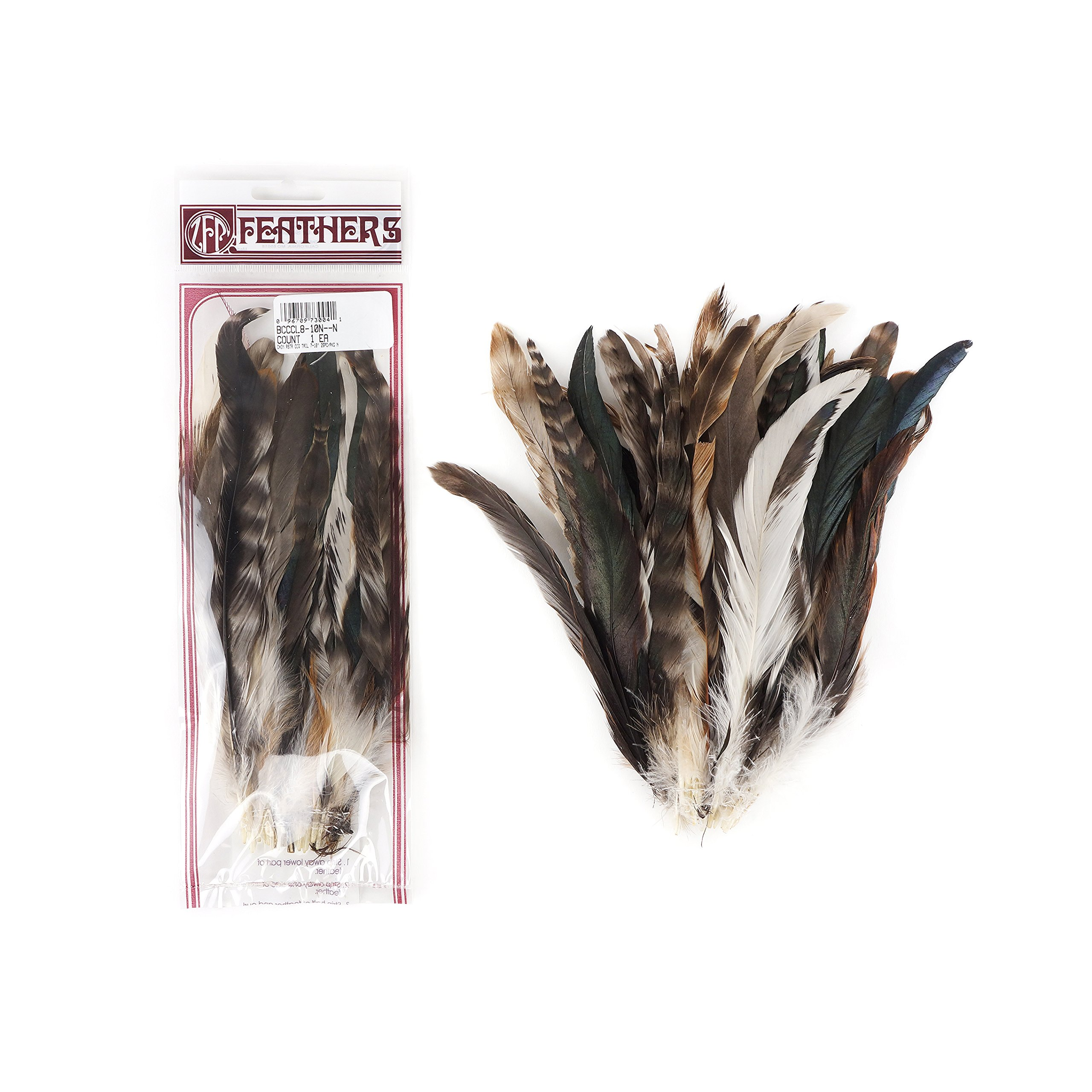 Zucker Feather (TM) - Rooster Coque Tails-Chinchilla Natural