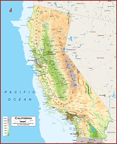 49 X 60 - Giant California State Wall Map Poster with Topography - California Map Pictures on california absolute location, california geography, california counties, new york map, california highways, california history, north carolina map, california climate, california delta, california nickname, california region, kansas map, alaska map, california mountains, michigan map, california county, california trees, indiana map, delaware map, wyoming map, california water, alabama map, connecticut map, hawaii map, california sketch, california outline, california people, california cities, arkansas map, illinois map, georgia map, california beach, california biomes,