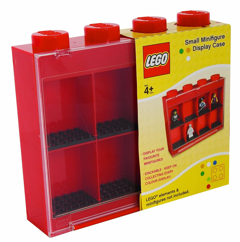 Lego Sablon 107-005-2 Minifigures Display Case Per 8 Piccole Figure Rosse
