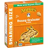 Annie's Honey All Natural Whole Grain Graham Snacks Bunny Grahams 10 oz (Pack of 6)