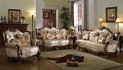 Amazon.com: McFerran Home Furniture Sofa and Love Seat Set ...
