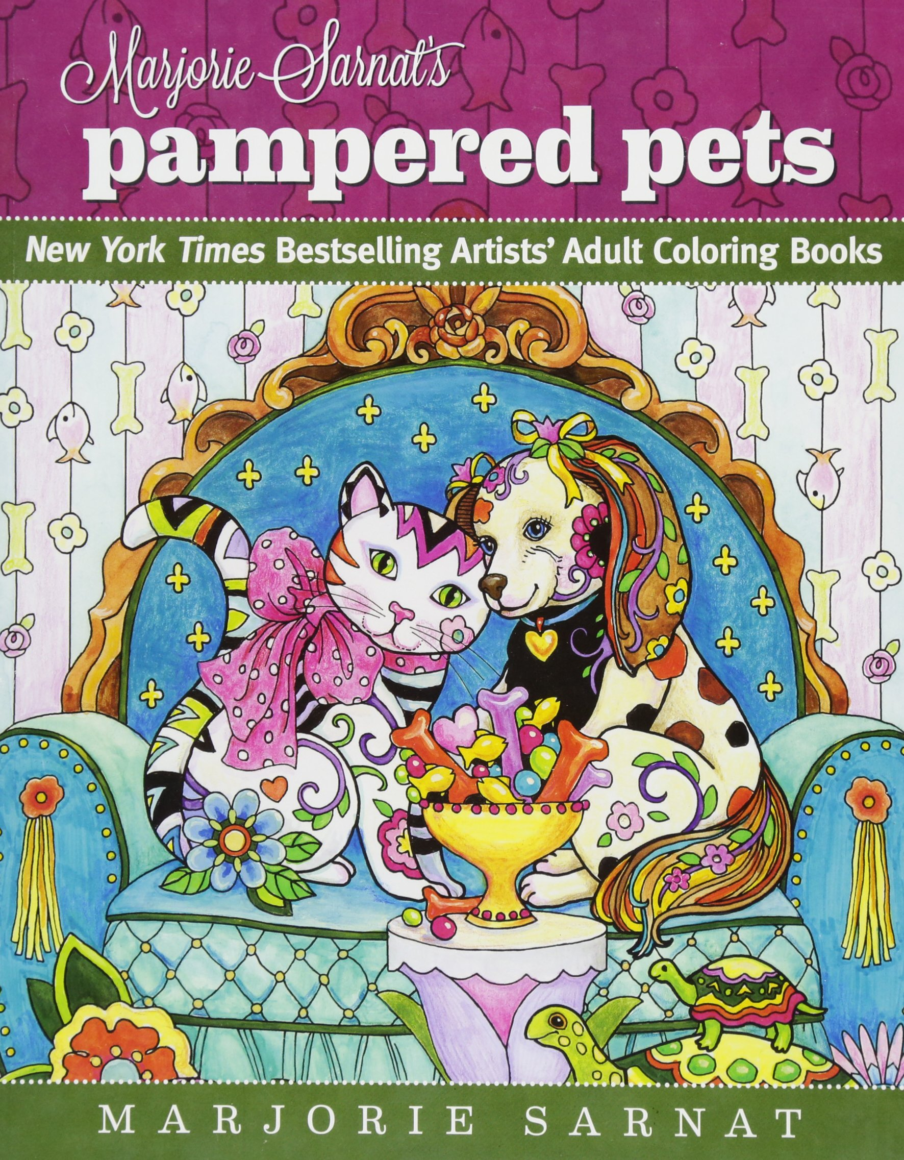 Marjorie Sarnat's Pampered Pets: New York Times Bestselling Artists' Adult Coloring Books ebook