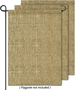 hblife Personalized Blank Burlap Garden Flag Happy Camper Banner Lawn Yard Outdoor Seasonal Holiday DIY Flag for New Home Gift Wedding Gift Housewarming Gift Home Decor,One-Sided (Set of 3)