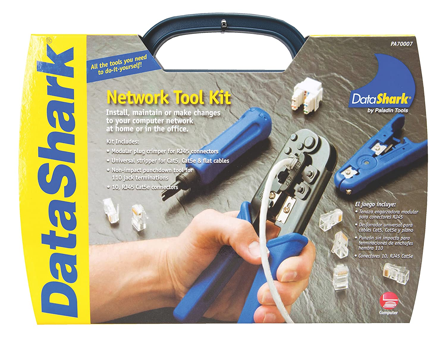 Data Shark 70007 Complete Network Tool Kit Cable Insertion And How To Make Cat5 Extraction Tools