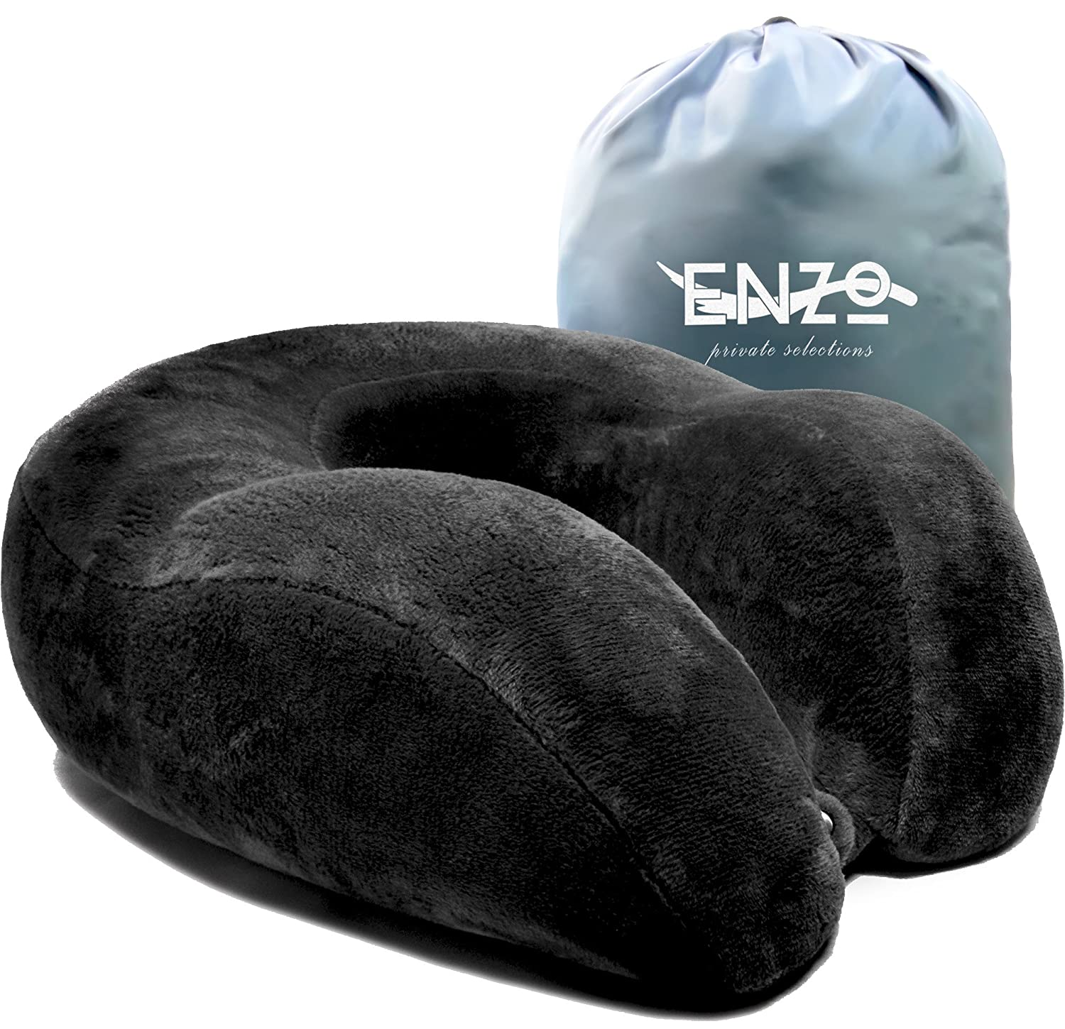 Bed chair pillow amazon - Enzo S Private Selection Cooling Gel Memory Foam Travel Neck Pillow Grey
