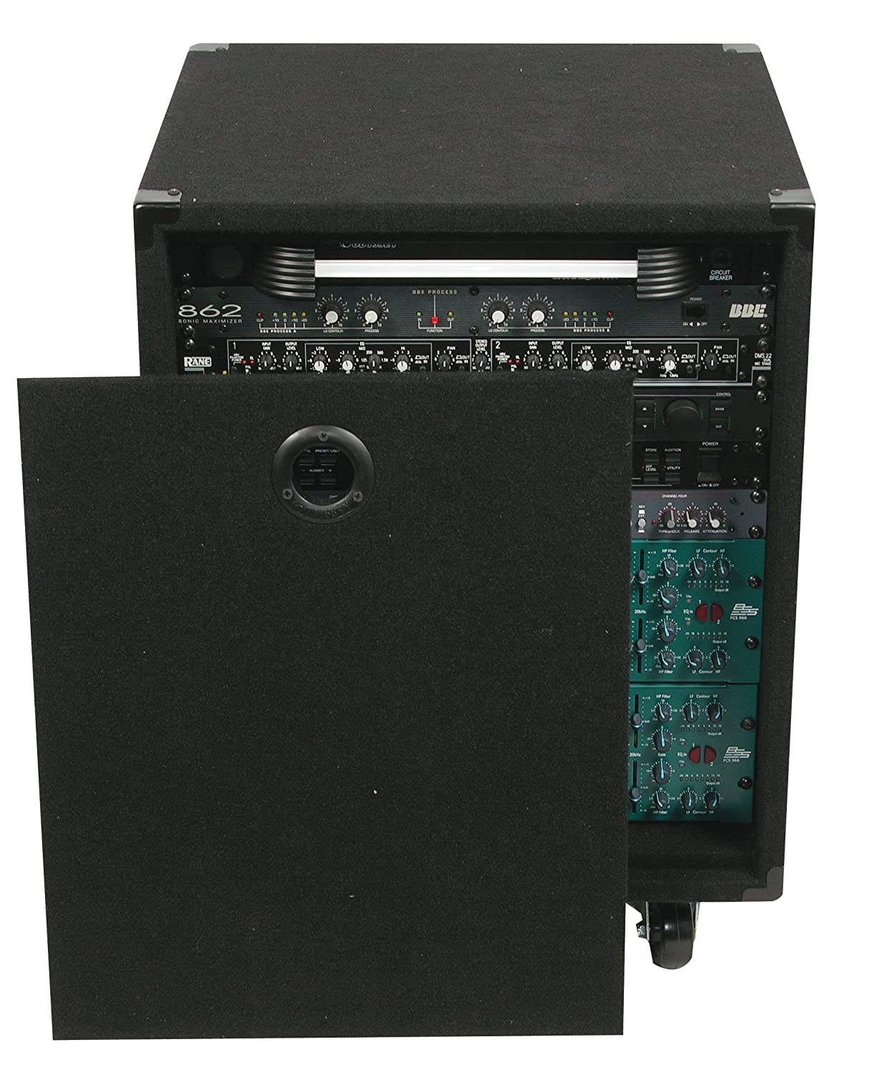 Odyssey CRE12W 12 Space 17 Deep Carpeted Econo Rack With Wheels Odyssey Innovative Designs
