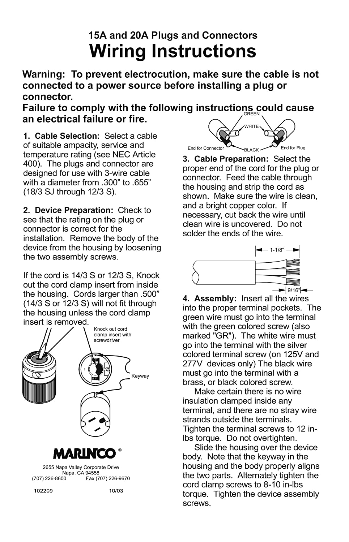 120v Female Plug End Wiring Diagram AC Outlet Wiring