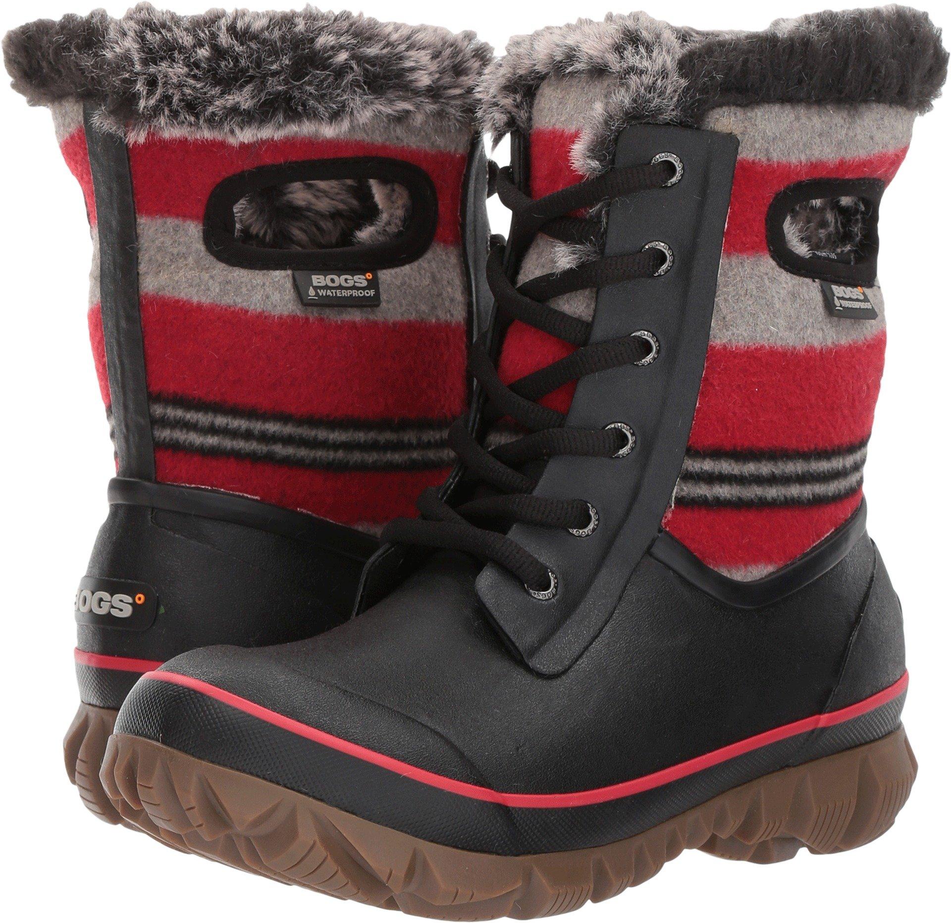 Bogs Arcata Sripe Boot - Women's Red Multi, 11.0